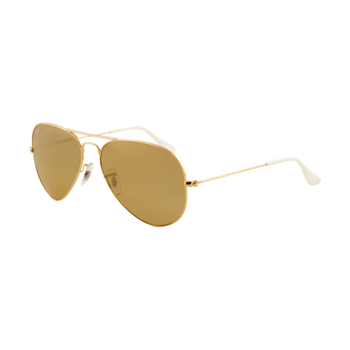 Ray Ban RB3025 Aviator Sunglasses Arista Frame Crystal Yellow Le