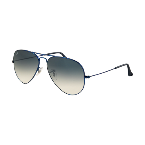 Ray Ban RB3025 Aviator Sunglasses Metal Blue Matte Frame Crystal