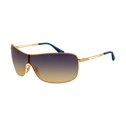 Ray Ban RB3466 Sunglasses Gold Frame Purple Gradient Yellow Lens