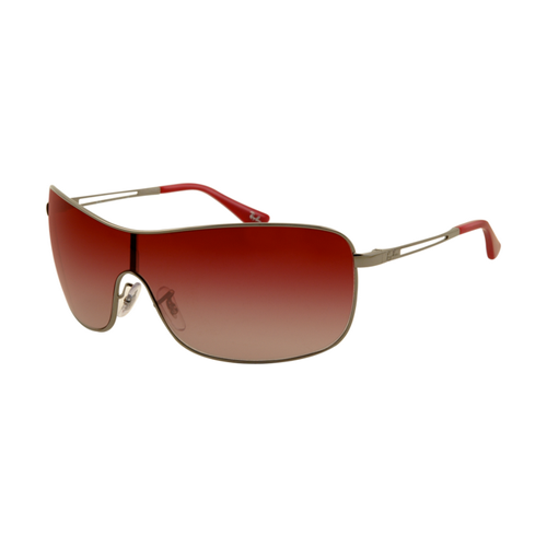 Ray Ban RB3466 Sunglasses Gunmetal Frame Red Gradient Lens