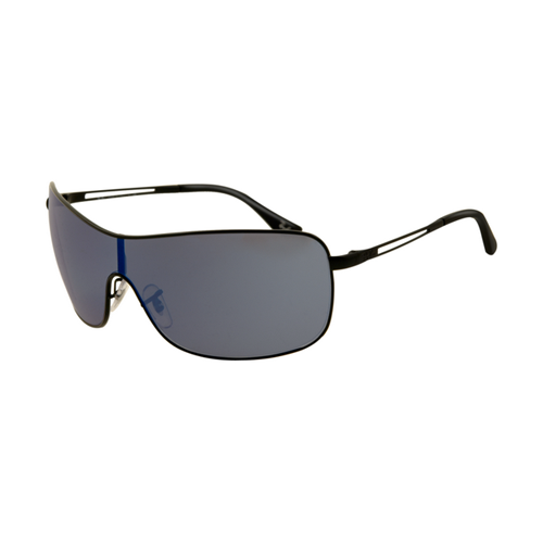 Ray Ban RB3466 Sunglasses Shiny Black Frame Blue Polarized Lens