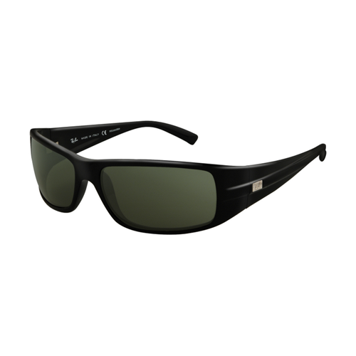 Ray Ban RB4057 Sunglasses Black Frame Crystal Green Polarized Le