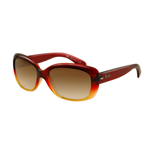 Ray Ban RB4101 Jackie Ohh Sunglasses Red Frame Crystal Brown Gra