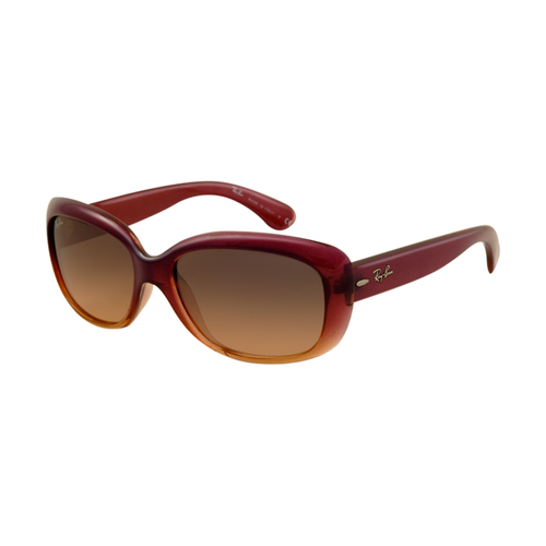 Ray Ban RB4101 Jackie Ohh Sunglasses Wine Red Frame Brown Polari
