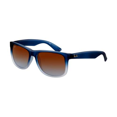 Ray Ban RB4165 Justin Sunglasses Rubber Gradient Blue Frame Tra