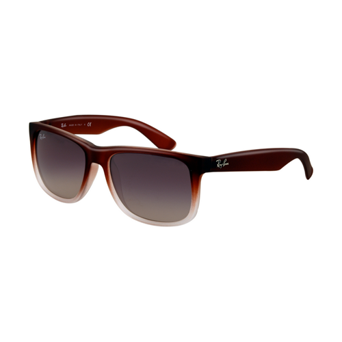 Ray Ban RB4165 Justin Sunglasses Rubber Brown Gradient with Tran