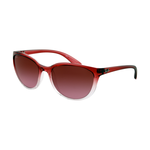 Ray Ban RB4167 Sunglasses Red Gradient on Transparent Frame Brow