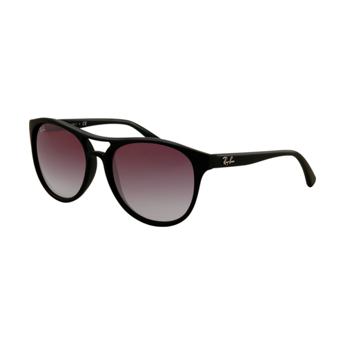 Ray Ban RB4170 Sunglasses Rubberized Black Frame Purple Gradient