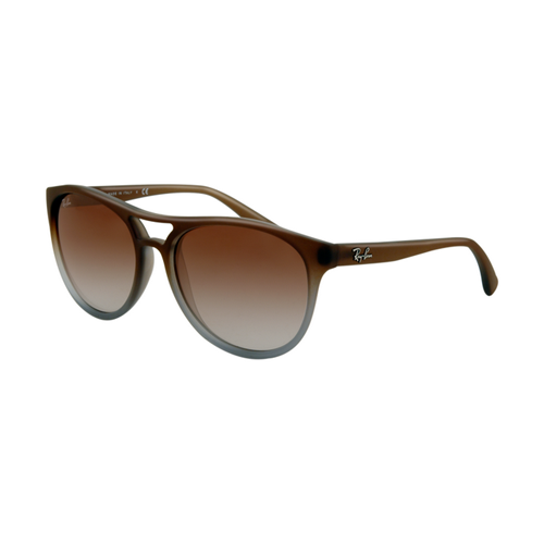 Ray Ban RB4170 Sunglasses Brown Gradient on Clear Frame Grey Gre