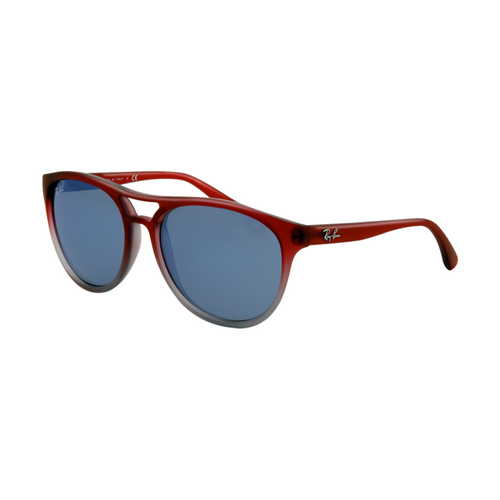 Ray Ban RB4170 Sunglasses SF Rosso Grigio Transparent Frame Blue