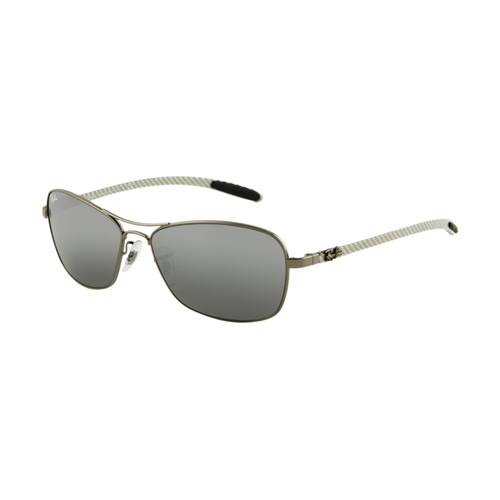 Ray Ban RB8302 Tech Sunglasses Gunmetal Frame Grey Mirror
