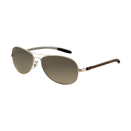 Ray Ban RB8301 Tech Sunglasses Arista Frame Grey Mirror