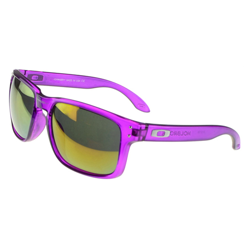 Oakley Holbrook Sunglasses pink Frame yellow Lens