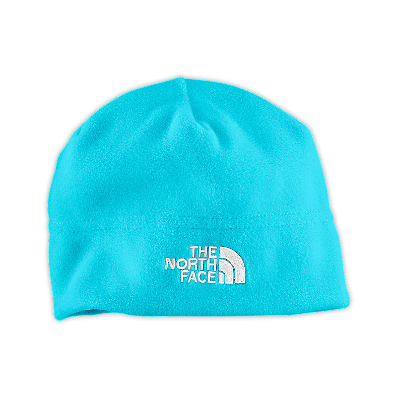 NORTH FACE YOUTH FLASH FLEECE BEANIE TURQUOISE BLUE
