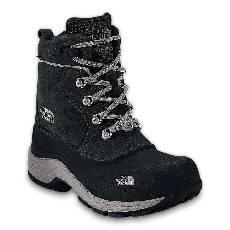 NORTH FACE BOYS CHILKATS LACE BOOT BLACK / ZINC GREY