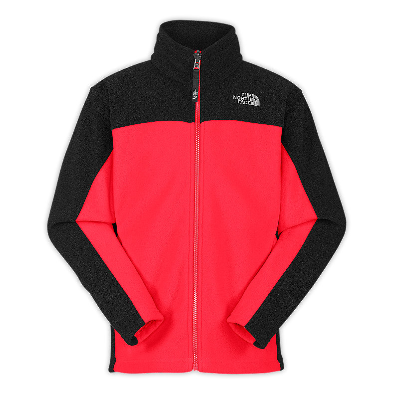 NORTH FACE BOYS KHUMBU JACKET FIERY RED / TNF BLACK