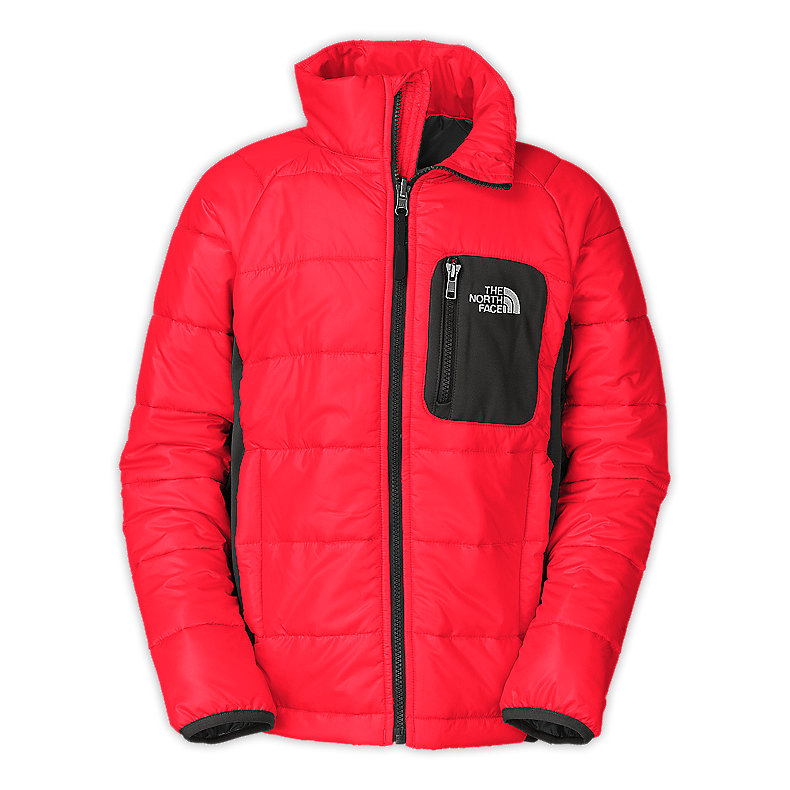NORTH FACE BOYS SIBRIAN JACKET FIERY RED / GRAPHITE GREY