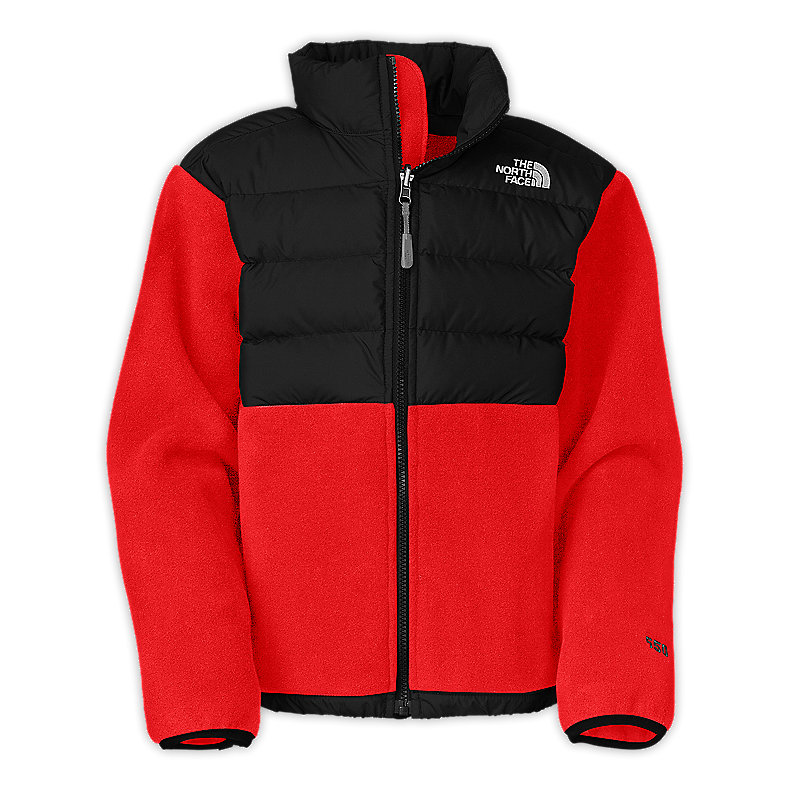 NORTH FACE BOYS DENALI DOWN JACKET FIERY RED