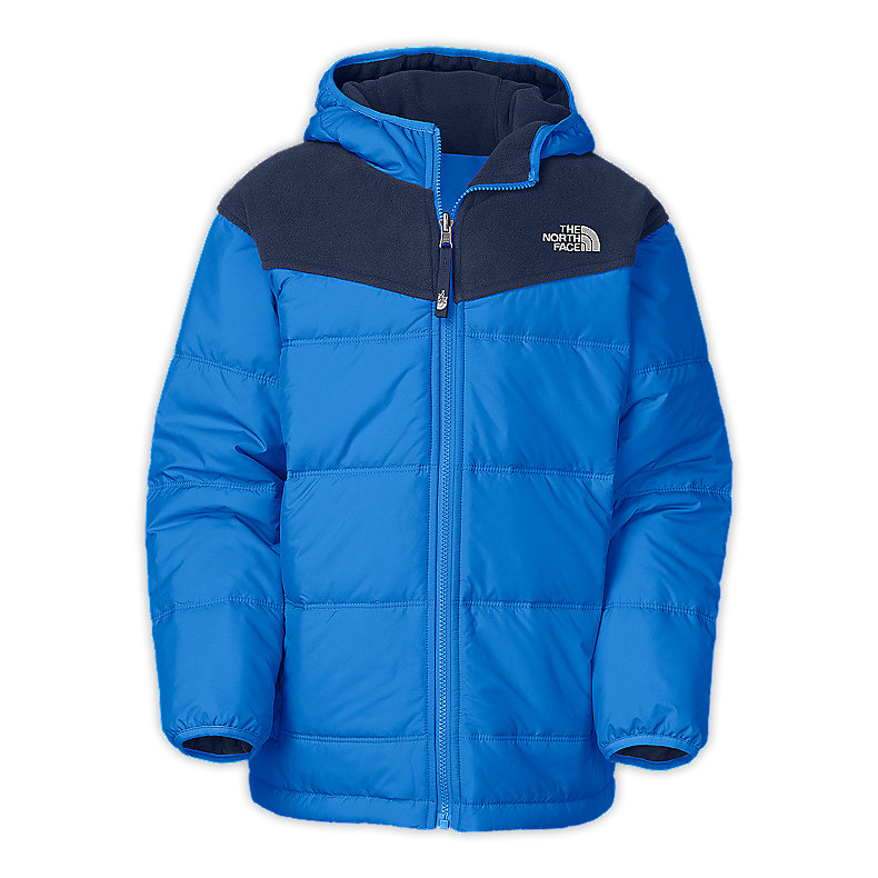 NORTH FACE BOYS REVERSIBLE TRUE OR FALSE JACKET JAKE BLUE / DEEP WATER BLUE