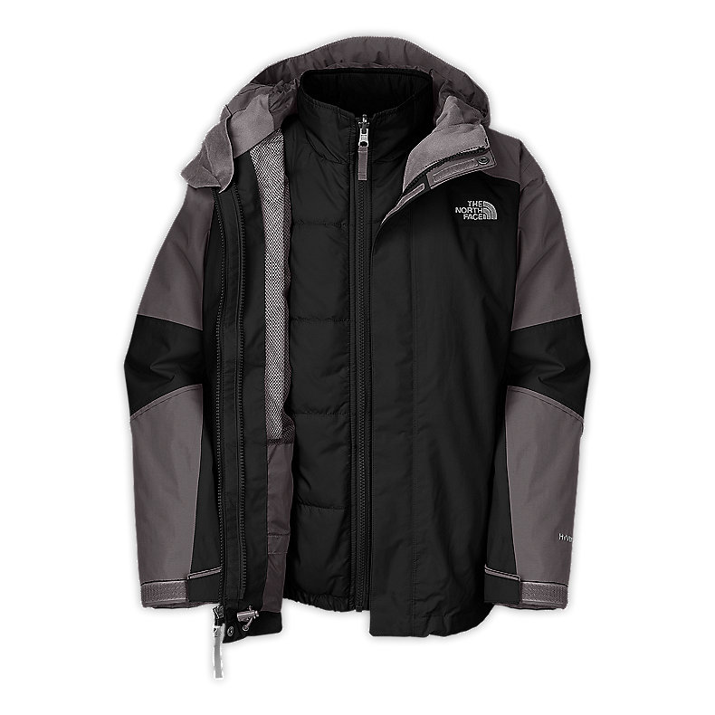 NORTH FACE BOYS TRAECE TRICLIMATE JACKET TNF BLACK