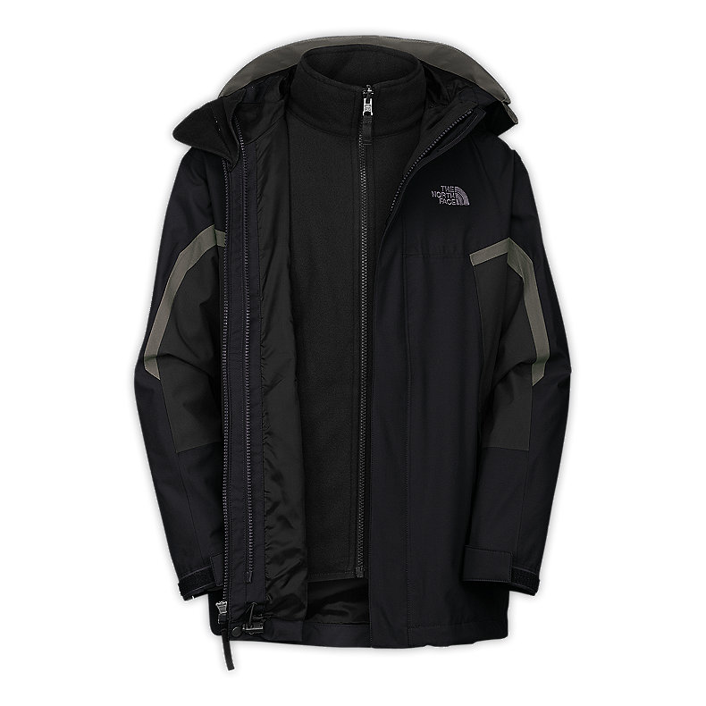 NORTH FACE BOYS NIMBOSTRATUS TRICLIMATE JACKET TNF BLACK