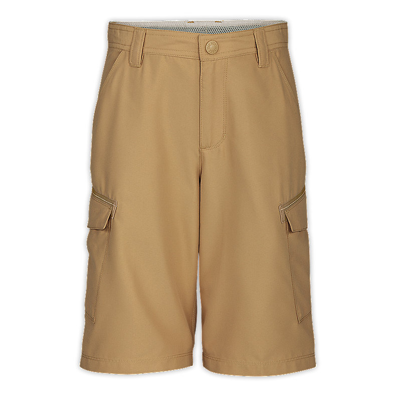 NORTH FACE BOYS CLASS V CARGO SHORTS MOAB KHAKI