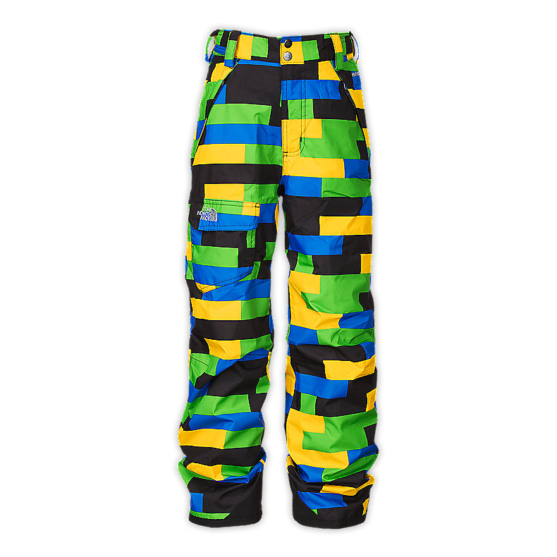 NORTH FACE BOYS FREEDOM INSULATED PANT LEOPARD YELLOW PRINT