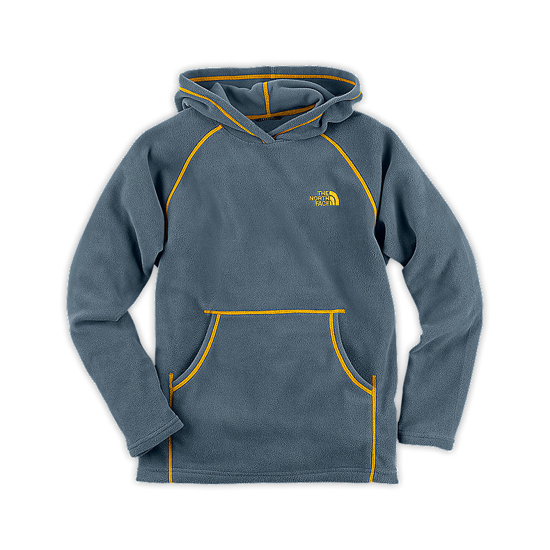 NORTH FACE BOYS GLACIER PULLOVER HOODIE CONQUER BLUE / LEOPARD YELLOW
