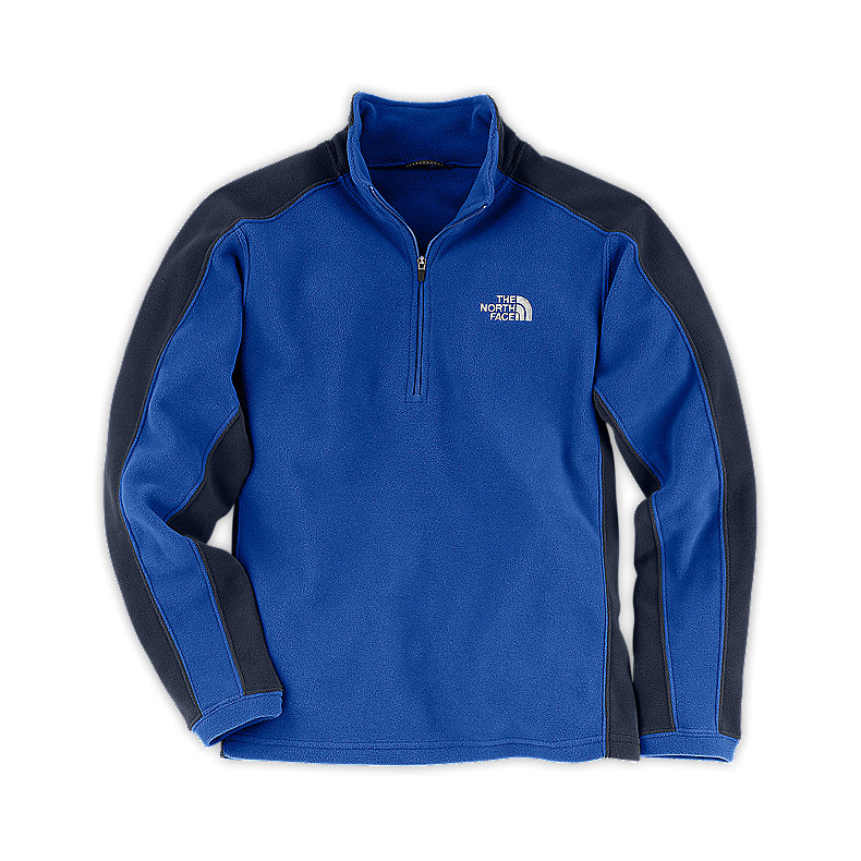 NORTH FACE BOYS GLACIER MICRO 1/4 ZIP JAKE BLUE