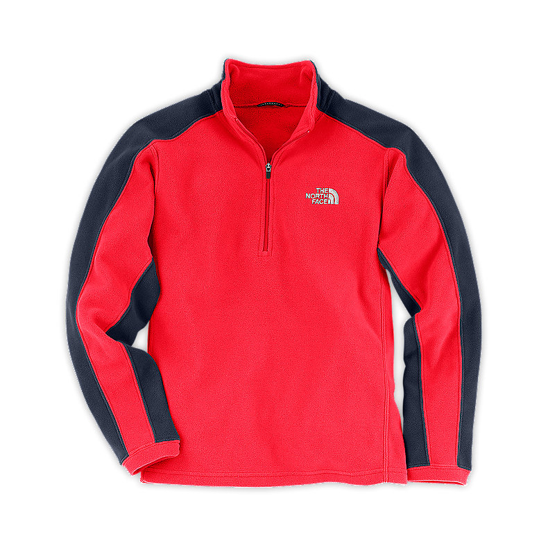 NORTH FACE BOYS GLACIER MICRO 1/4 ZIP FIERY RED