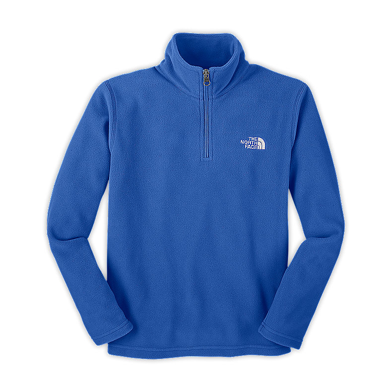NORTH FACE BOYS GLACIER 1/4 ZIP JAKE BLUE
