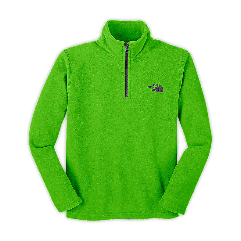 NORTH FACE BOYS GLACIER 1/4 ZIP GLO GREEN