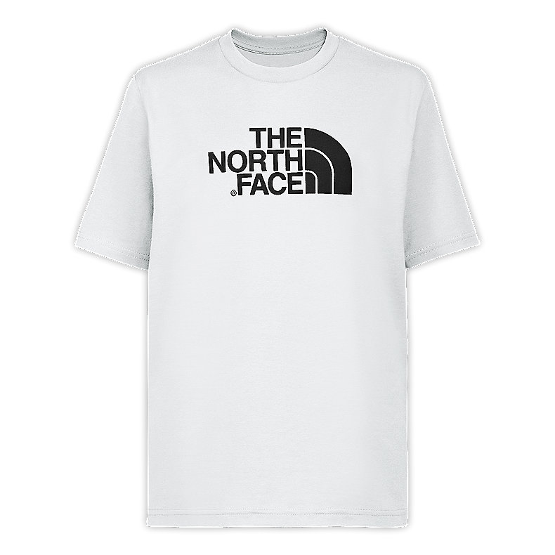 NORTH FACE BOYS S/S LOGO TEE TNF WHITE