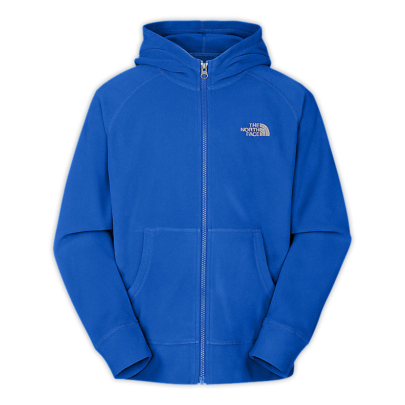 NORTH FACE BOYS GLACIER FULL ZIP HOODIE JAKE BLUE