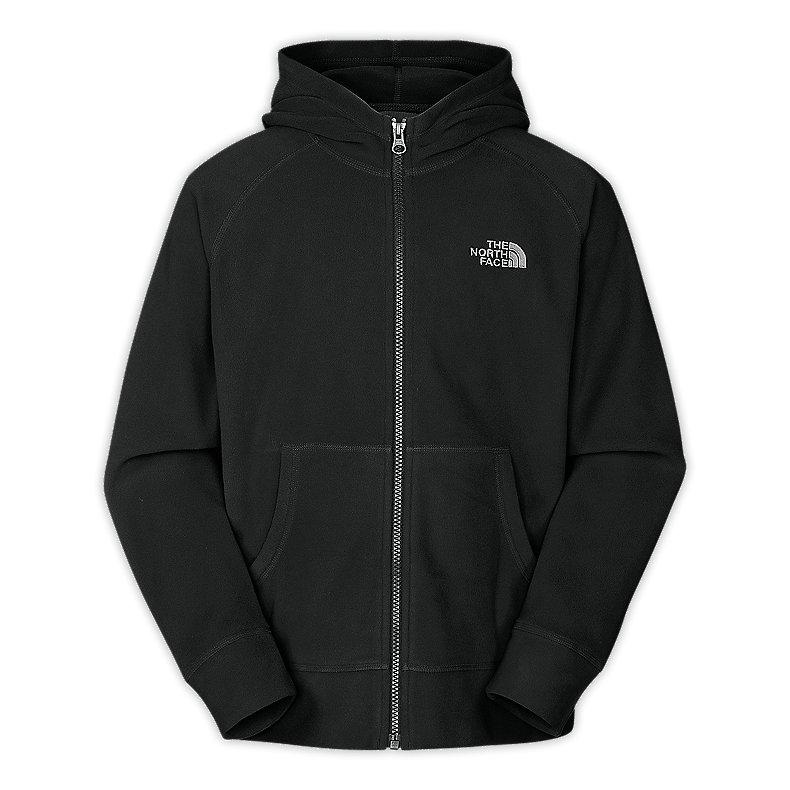 NORTH FACE BOYS GLACIER FULL ZIP HOODIE TNF BLACK