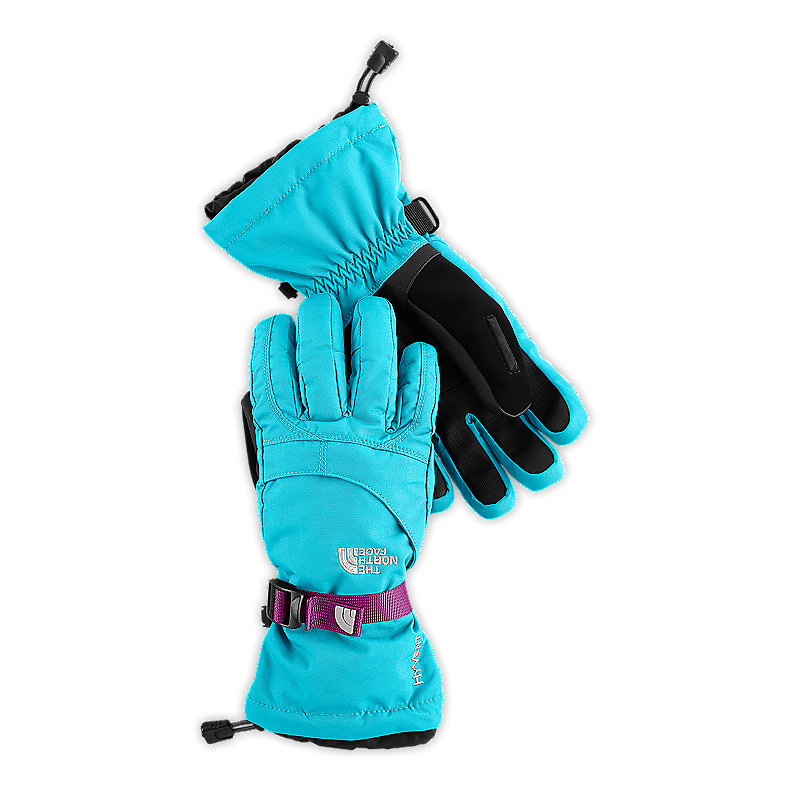 NORTH FACE GIRLS MONTANA GLOVE TURQUOISE BLUE / PREMIERE PURPLE