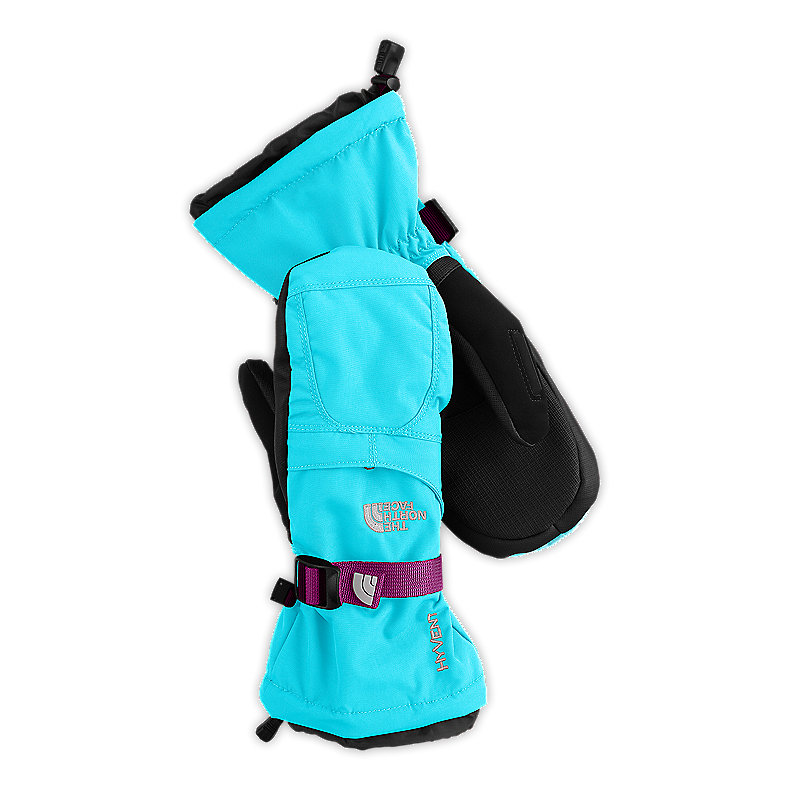 NORTH FACE GIRLS MONTANA MITT TURQUOISE BLUE / PREMIERE PURPLE