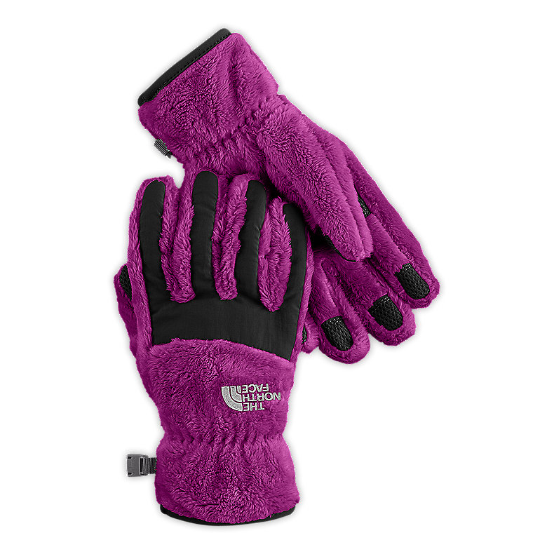 NORTH FACE GIRLS DENALI THERMAL GLOVE PREMIERE PURPLE / TNF BLACK