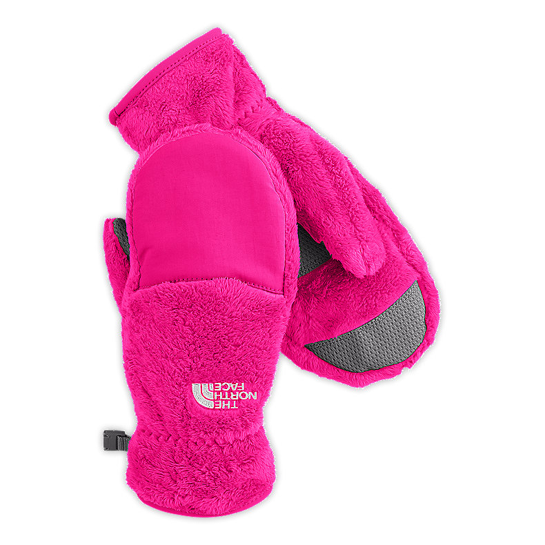 NORTH FACE GIRLS DENALI THERMAL MITT RAZZLE PINK