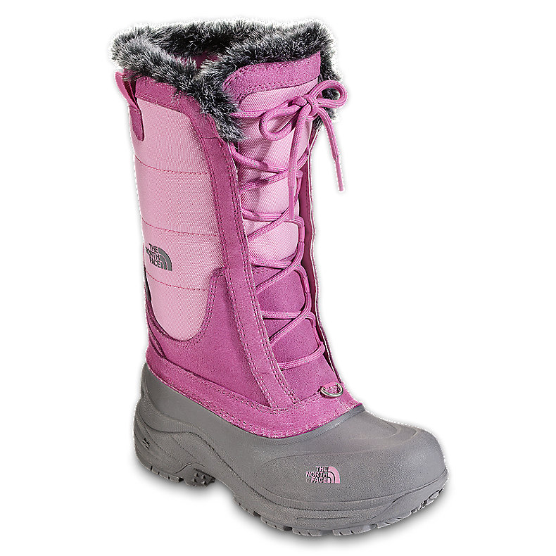 NORTH FACE GIRLS SHELLISTA LACE BOOT BEGONIA PINK / Q-SILVER GREY