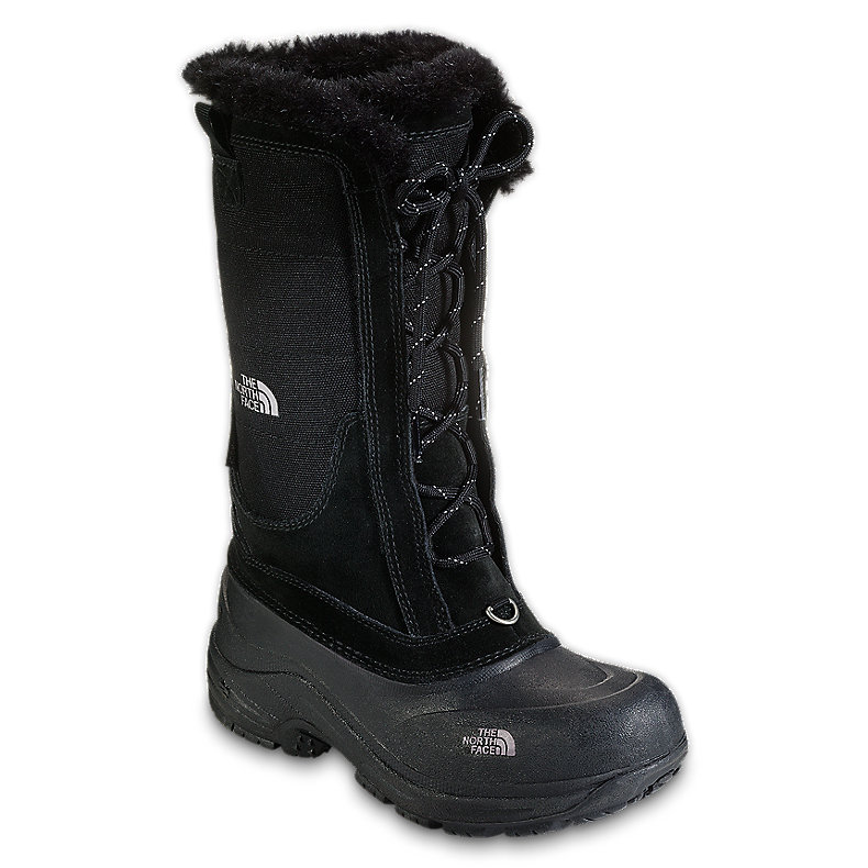 NORTH FACE GIRLS SHELLISTA LACE BOOT BLACK / FOIL GREY