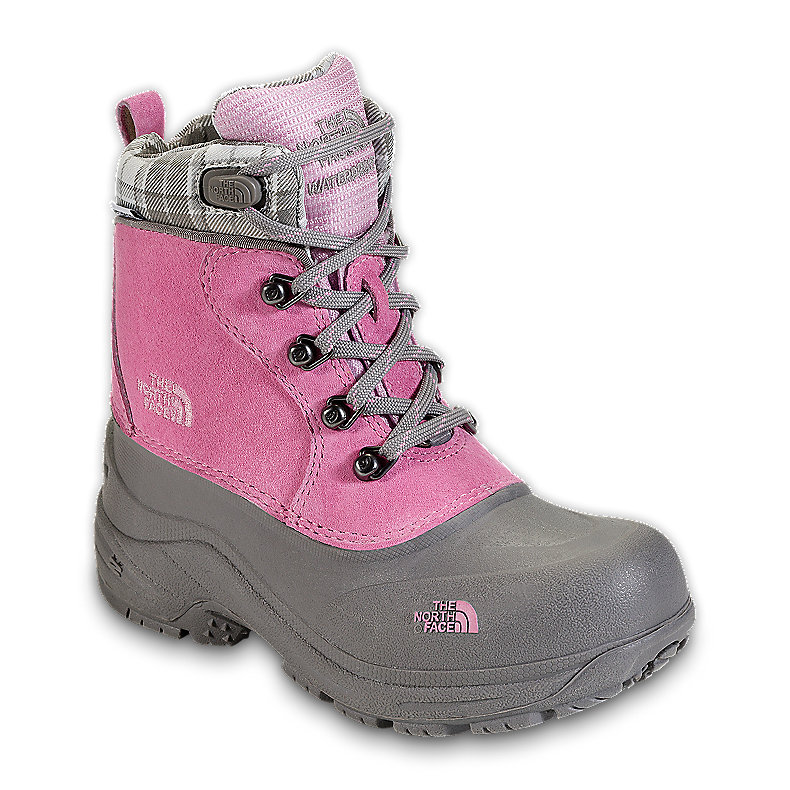 NORTH FACE GIRLS CHILKATS LACE BOOT BEGONIA PINK / Q-SILVER GREY