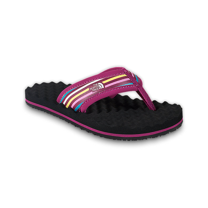 NORTH FACE GIRLS BASE CAMP FLIP-FLOP FUSCHIA PINK / DAFFODIL YELLOW