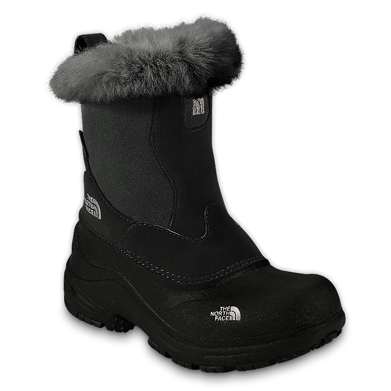 NORTH FACE GIRLS GREENLAND ZIP BOOT BLACK / PUMICE GREY