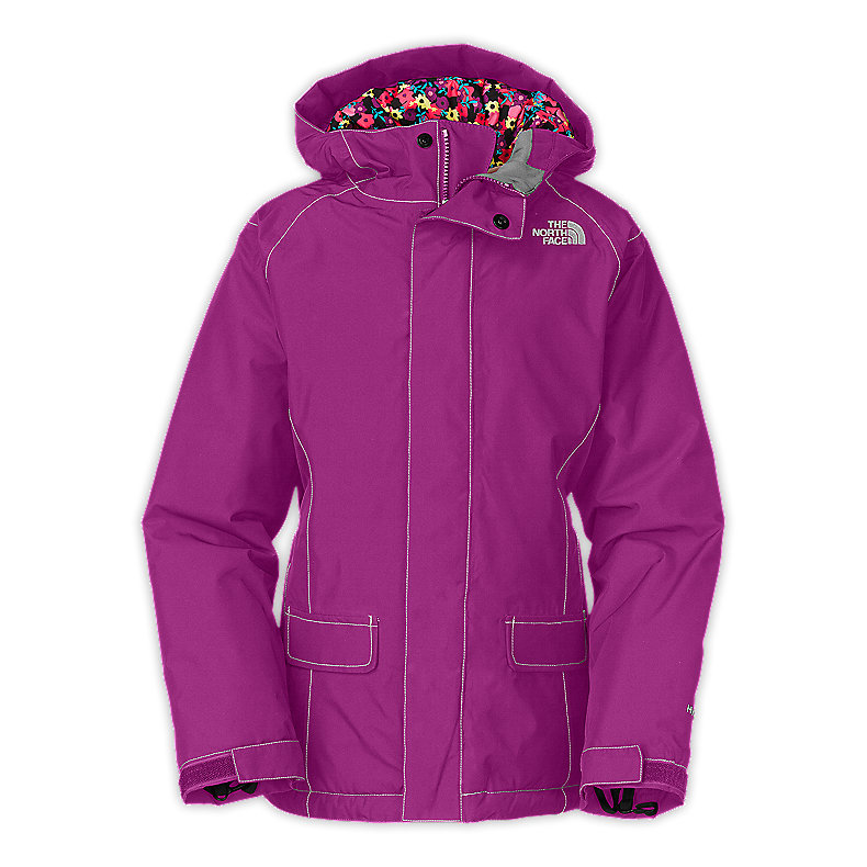 NORTH FACE GIRLS INSULATED CAMEELE JACKET PREMIERE PURPLE