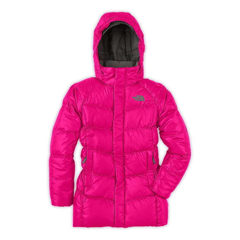 NORTH FACE GIRLS TRANSIT DOWN JACKET RAZZLE PINK