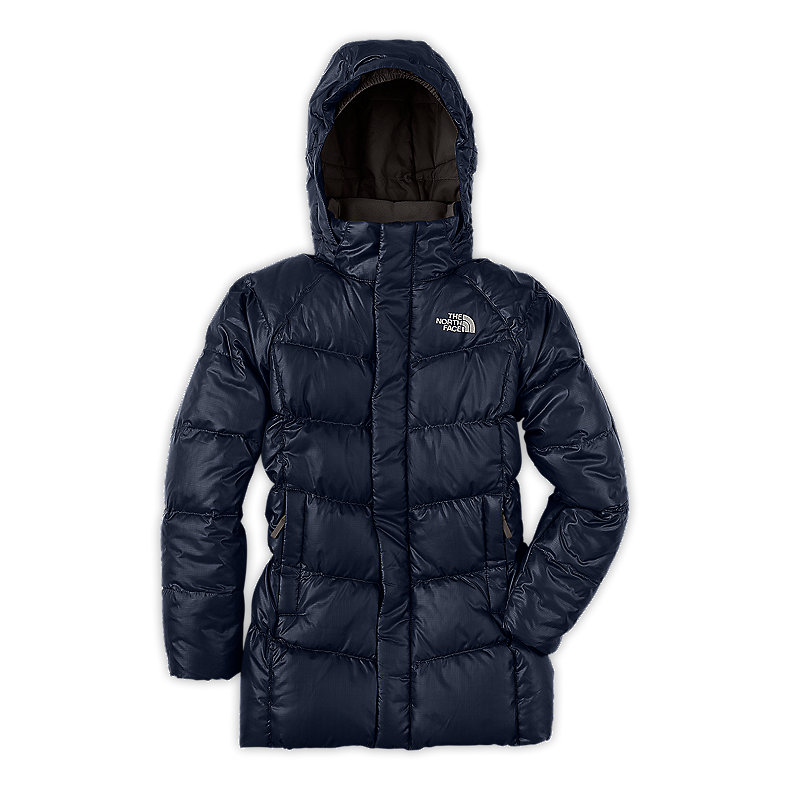 NORTH FACE GIRLS TRANSIT DOWN JACKET DEEP WATER BLUE