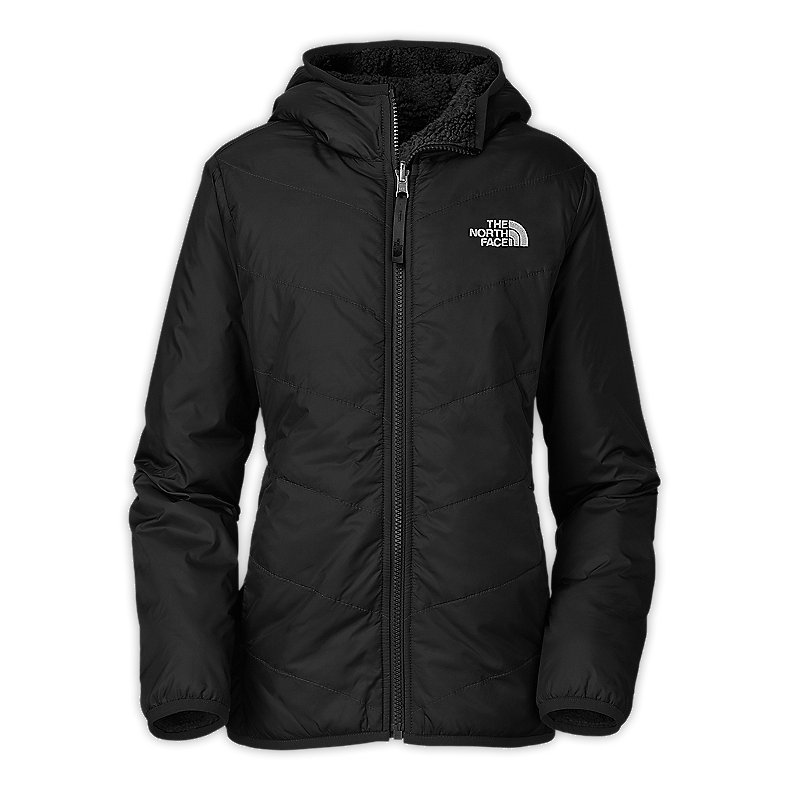 NORTH FACE GIRLS REVERSIBLE PERSEUS JACKET TNF BLACK