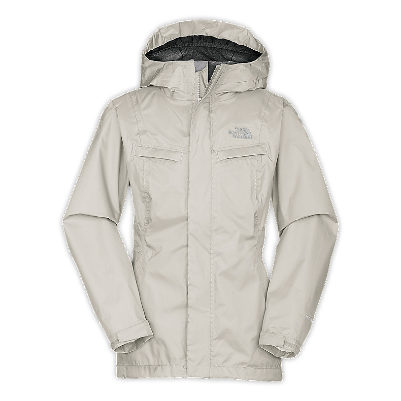 NORTH FACE GIRLS CLAIRY RAIN JACKET MOONLIGHT IVORY