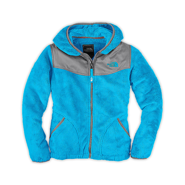 NORTH FACE GIRLS OSO HOODIE TURQUOISE BLUE